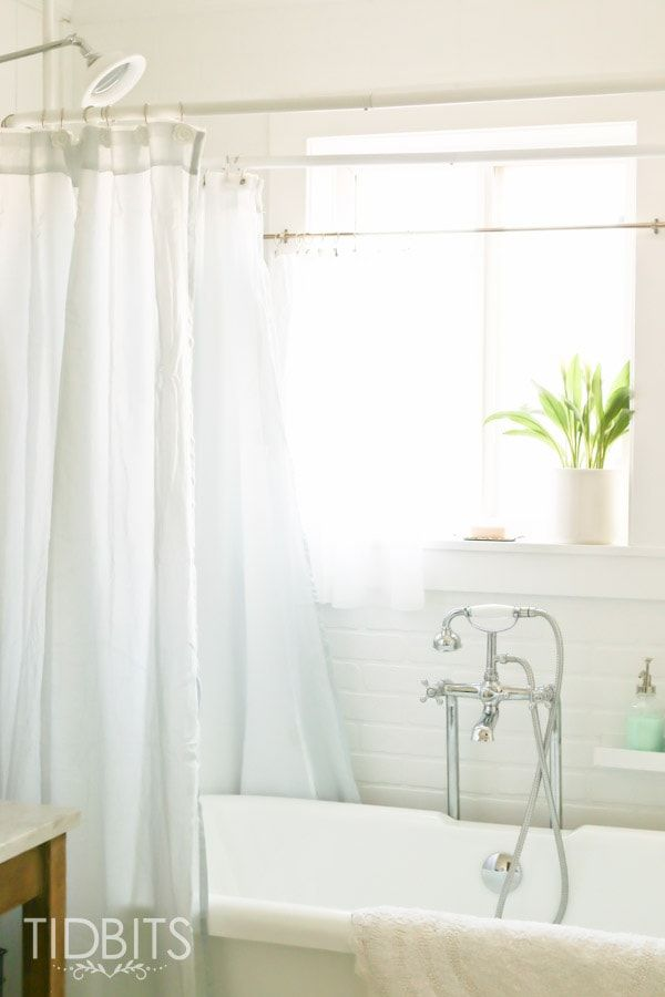 How To Make A Window Curtain Work For A Shower Curtain With