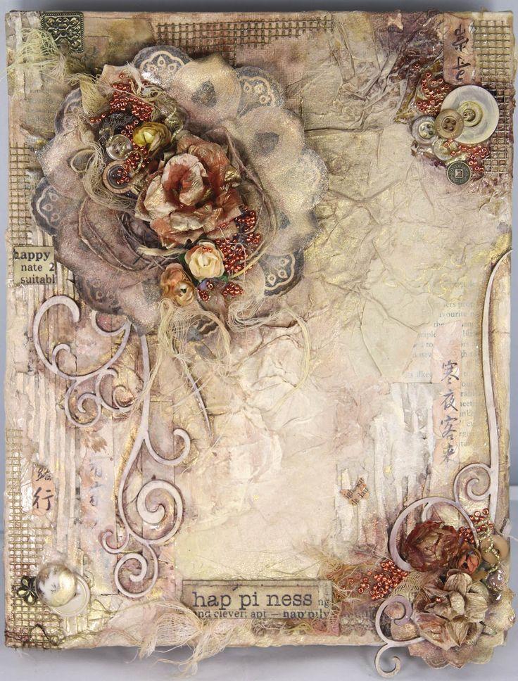 25 best ideas about decoupage canvas on pinterest for Mixed media canvas art ideas