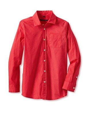 50% OFF Silvian Heach Boy's Dot Shirt (Tango Red)