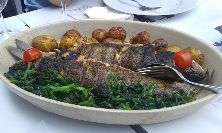 Fresh fish from the grill in Porto