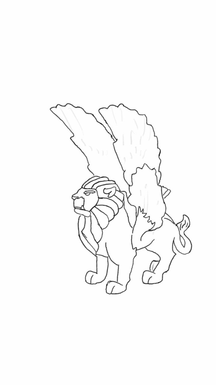 Imaginext lion drawing