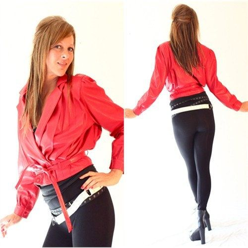 80s Michael Jackson Red Leather Jacket by VERA by LaGlamVintage, $65