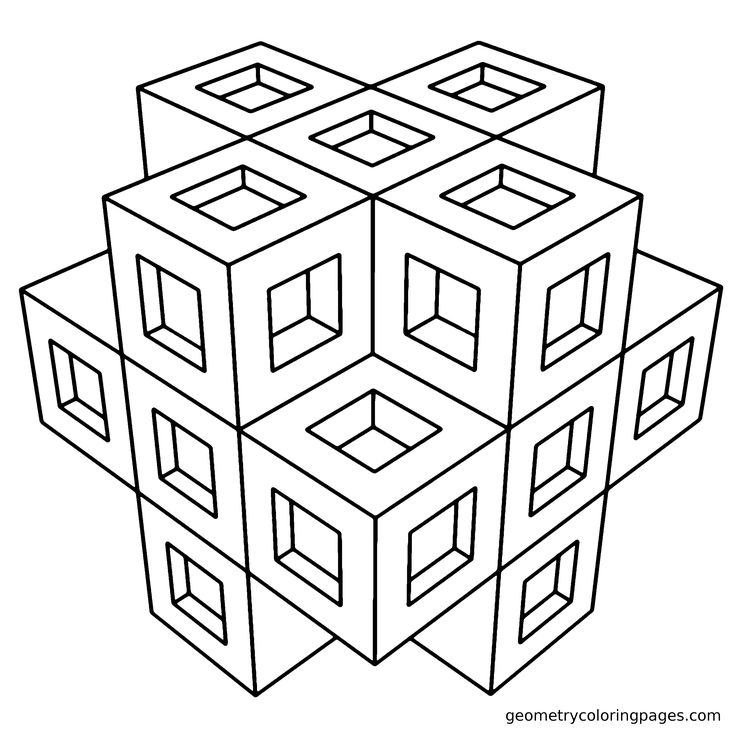geometry coloring pagesgeometry coloring pages