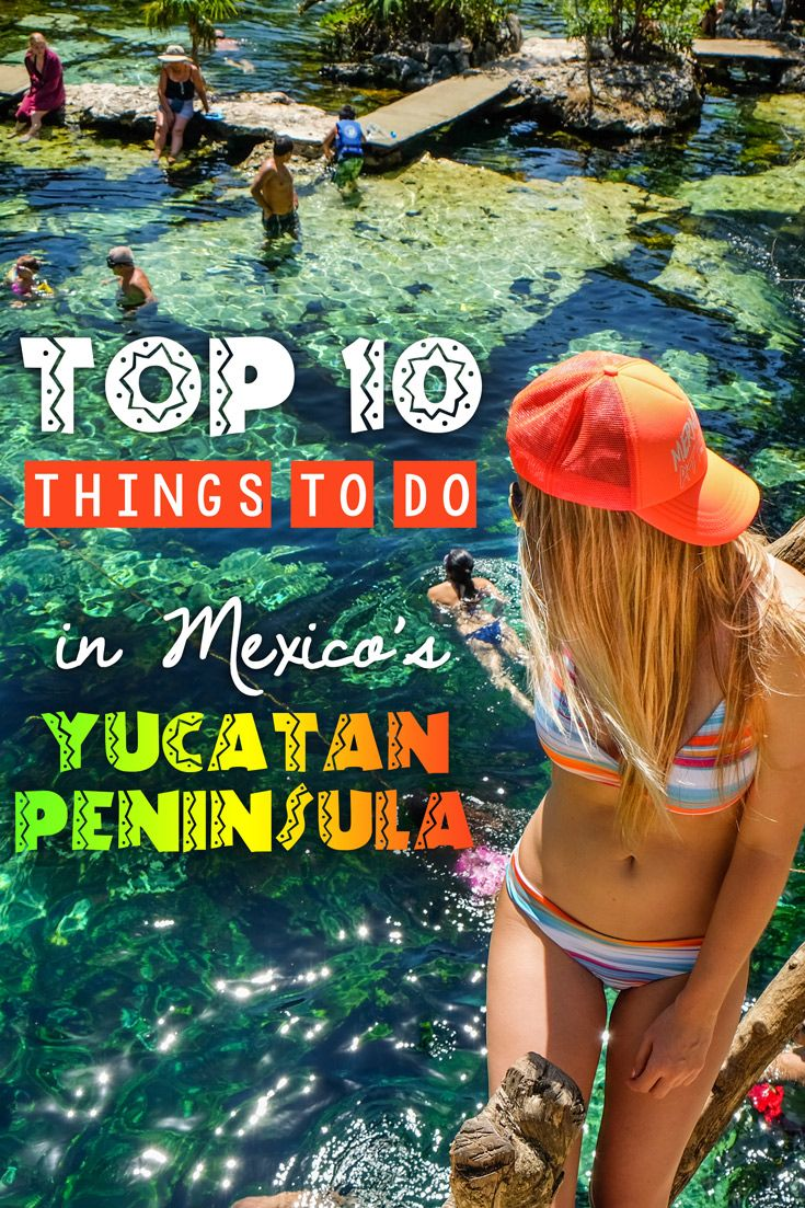 Mexico's Yucatan Peninsula is famous for beautiful beaches, adventure activities (like scuba diving and zip lining), Mayan ruins, as well as fabulous resorts.