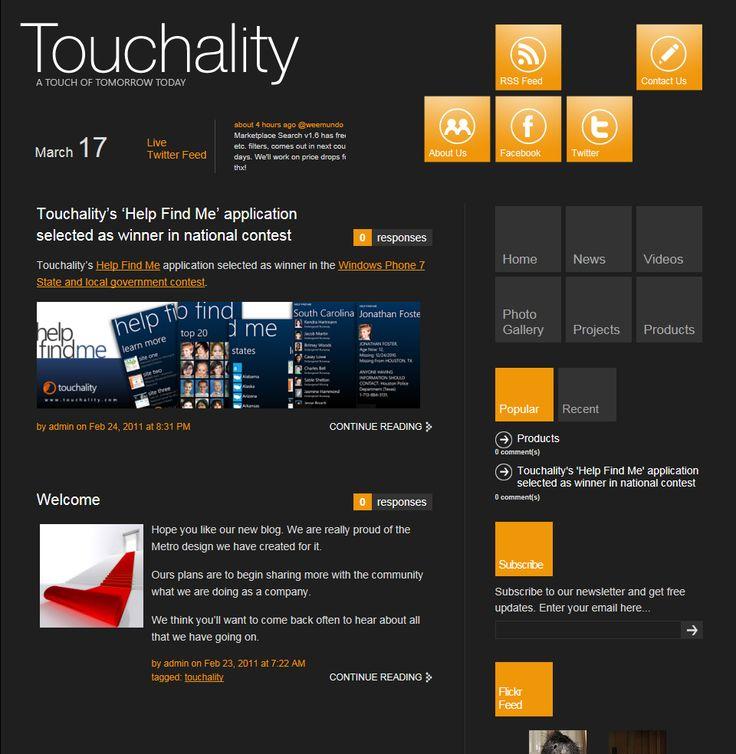 touchality blog metro ui
