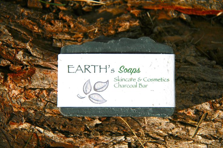 Charcoal Vitamin E Eczema Soap Bar with Niaouli Essential Oil
