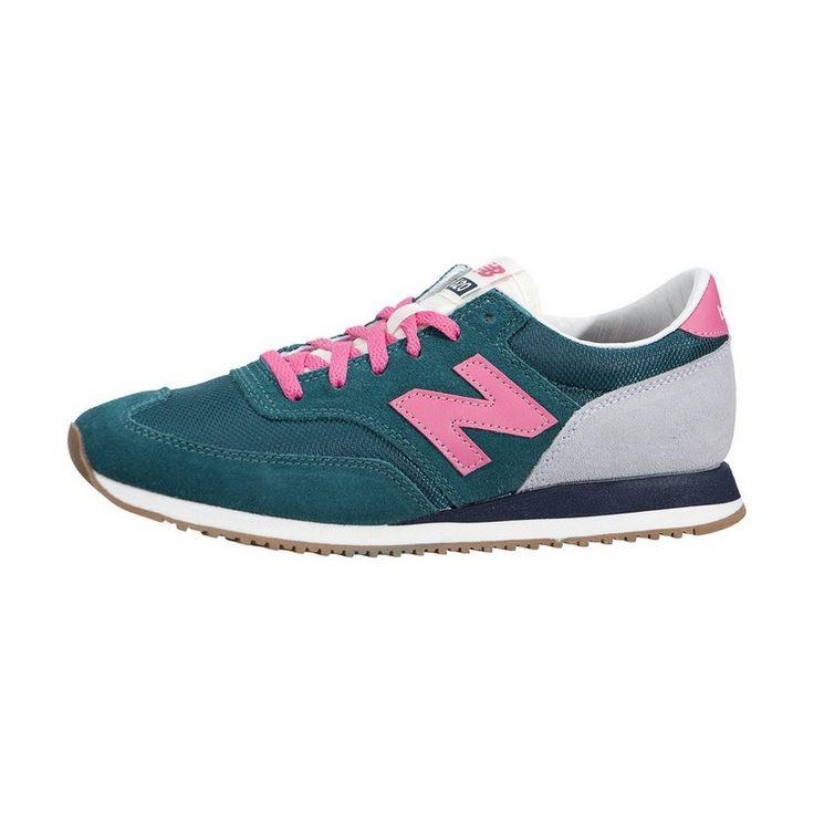 Buty Do Biegania New Balance Damskie Zielone z Różowe Szare 620