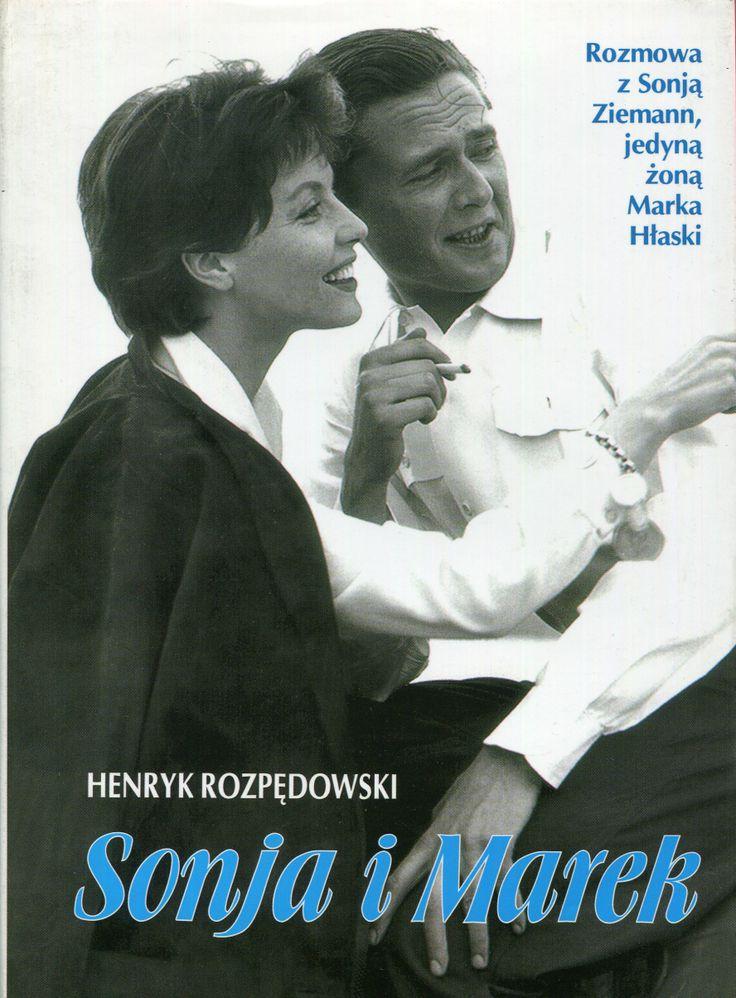 """""""Sonja i Marek. Rozmowa z Sonją Ziemann, jedyną żoną Marka Hłaski"""" Henryk Rozpędowski Cover by Krystyna Töpfer Published by Wydawnictwo Iskry 1999"""