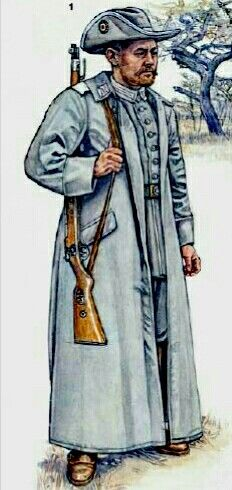 GERMAN EAST AFRICA SCHUTZTRUPPE 1914-1919: Soldat, home uniform with overcoat, 1914 - pin by Paolo Marzioli