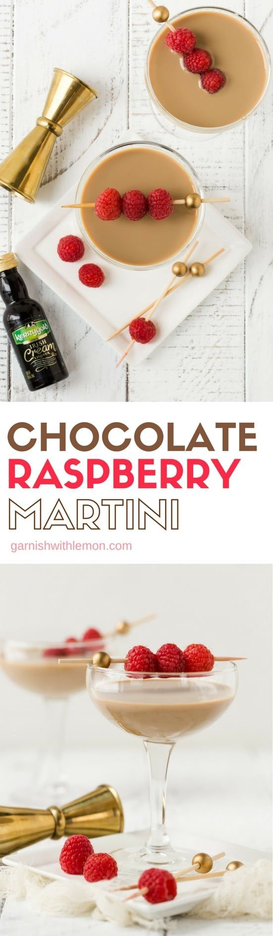 Don't worry about dessert! This Chocolate Raspberry Martini is dessert in a glass and the perfect night cap. Or, if you're brainstorming what to make for Valentine's Day, this is the answer