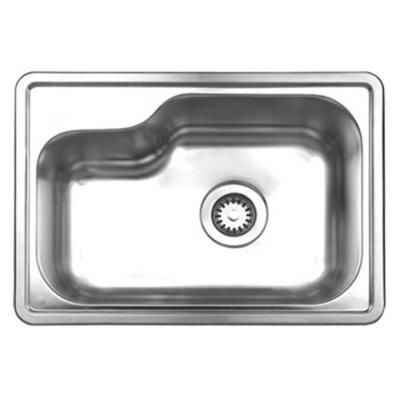 Whitehaus Collection Noahu0027s Collection Drop In Brushed Stainless Steel 22  In. Single Basin Kitchen Sink
