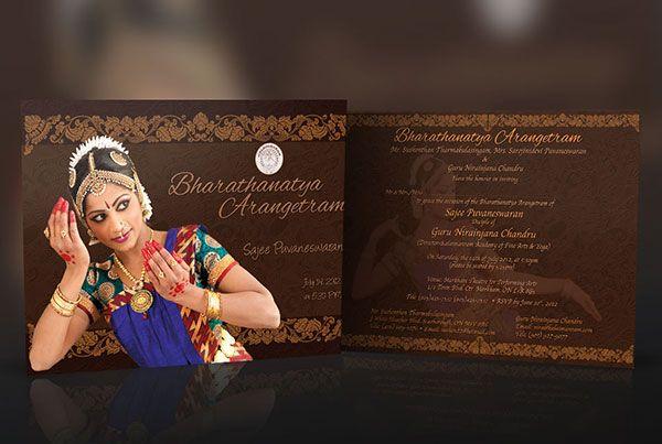 Arangetram Invitation is awesome invitation layout