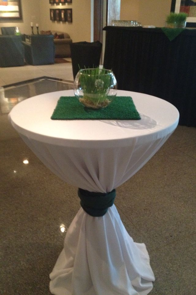 17 best ideas about golf table decorations on pinterest for Cocktail tables party