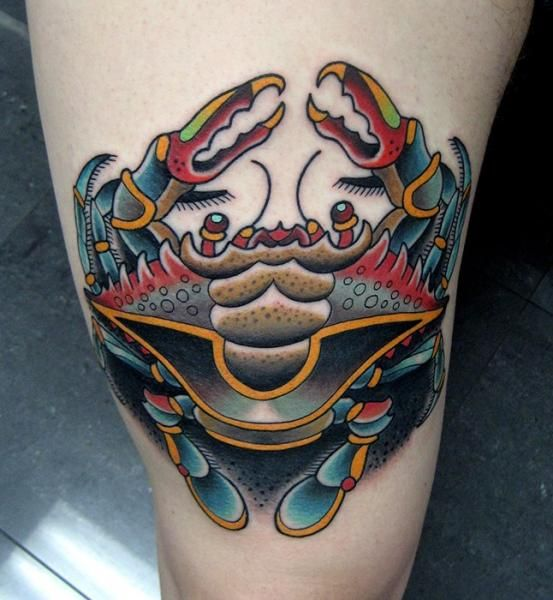 17 best ideas about crab tattoo on pinterest cancer crab for Maryland crab tattoo