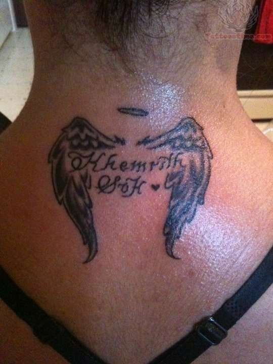 rip tattoos with angel wings - Google Search