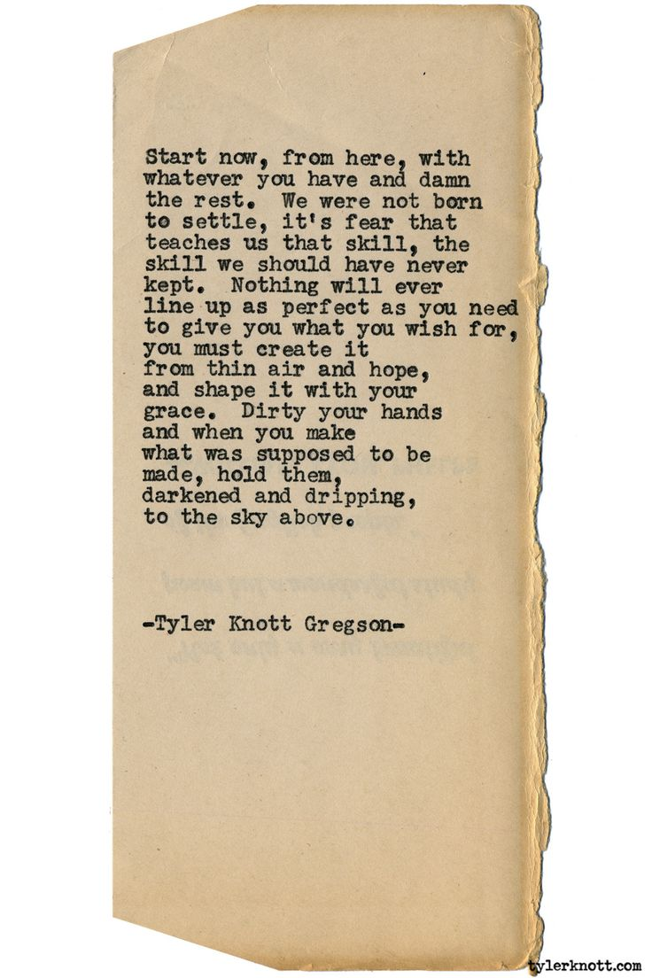 Typewriter Series #1556 by Tyler Knott Gregson Chasers of the Light & All The Words Are Yours are Out Now!
