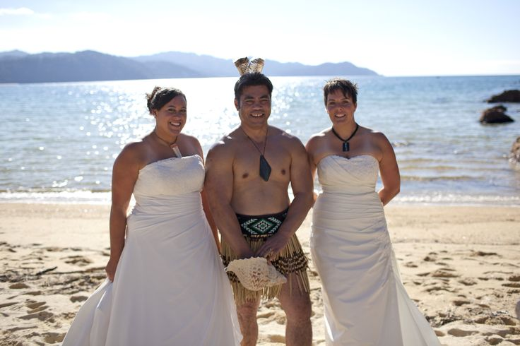 Another Dream Maker Same Sex Dream Wedding in the Abel Tasman National Park in Tasman near Nelson New Zealand. With a Maori theme. www.thedreammaker.co.nz