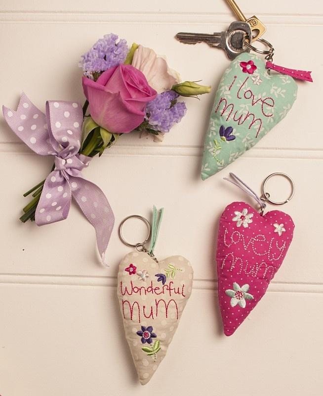 Lovely Mum Padded Key Rings - Gisela Graham - Mother's Day Gift