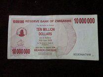 """#Зимбабве 10 000 000 долларов 2008 AZ3340799 - 30 р. #  Изображение реальной боны или монеты. Состояние на скане или фото. Задавайте вопросы если есть до покупки. Отказ после покупки - занесение в """"чёрный список"""" и отрицательный отзыв.  Отправка всех купленных Вами одним письмом цена всегда за одно заказное письмо если отправка 1 классом или курьерской службой то уточняйте сразу. При покупке на 1000 р. и более отправка простым заказным за мой счёт. Спасибо за внимание к моим лотам! Зимбабве"""
