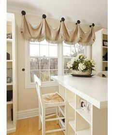 kitchen drapes and valances for large windows - Google Search