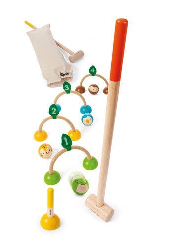 Gorgeous sustainable kids outdoor croquet...colourful, fun and worthy! £38, www.oatesandco.com