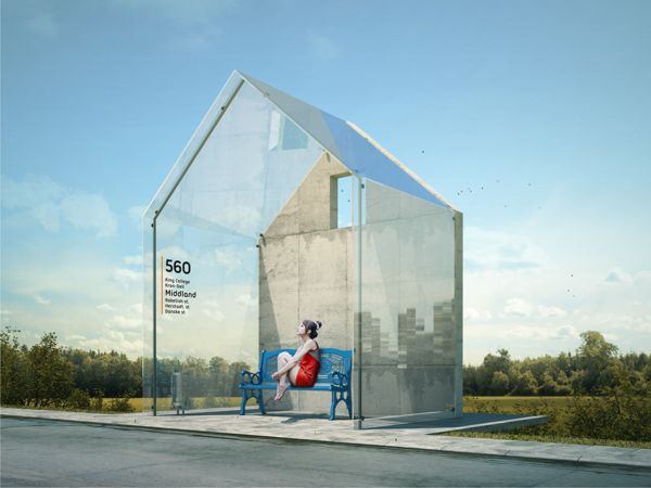 Bus Stop Concept by Anton Storozhev, via Behance