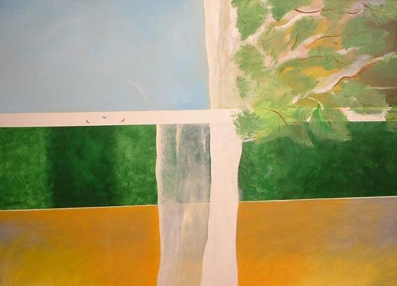 Valerio Cassano, Finestra.  Olio su tela, 2007