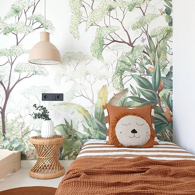 Tropical Popular Wall Mural Photowall Jungle Wallpaper Kids