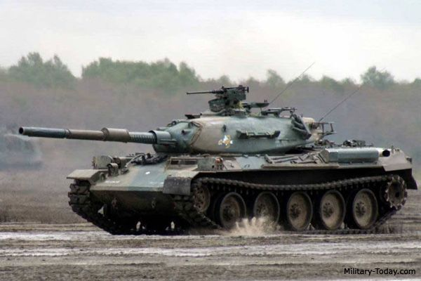 Main Battle Tank   The Type 74 main battle tank was generally out-dated even before it ...