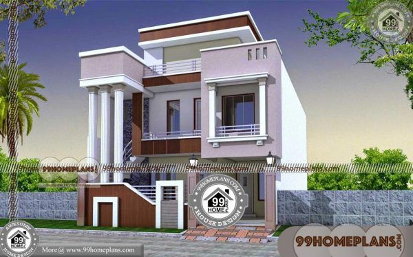 House Design Plans Indian Style Homes 90 Double Story Plans