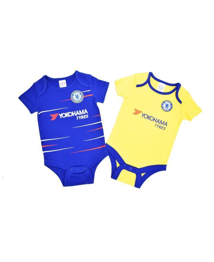 96feab40e3f Chelsea Baby Core Kit 2 pack Bodysuits - 2018/19 Season | Football ...