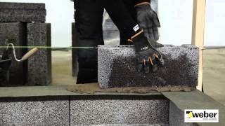 Mura ytterväggar med lecablock WeberSverige - YouTube