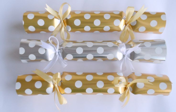 Gold and Silver Polka Dot Christmas Cracker from Polly Want a Cracker