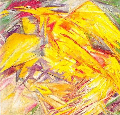 Mikhail Larionov. The Cockerel: A Rayonist Study. 1914
