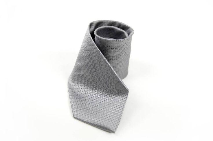 Krawat Elephant w kolorze srebrnym.