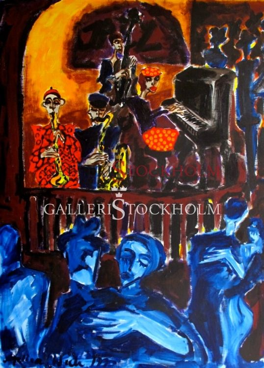 Oljemålning - Angelica Wiik - Stampen - Köp hos Galleristockholm.se Beställ här! Klicka på bilden.