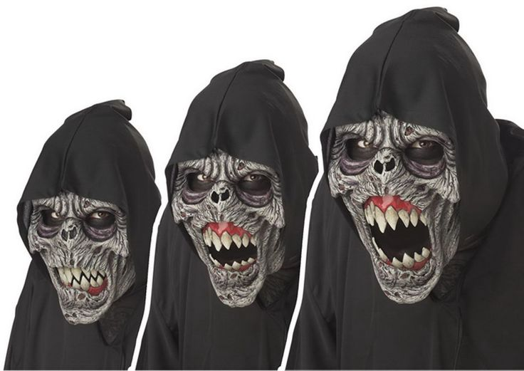 Opentip.com: California Costumes CCC-60301-C:AN00 Animotion Night Fiend Animated Costume Mask Adult One Size