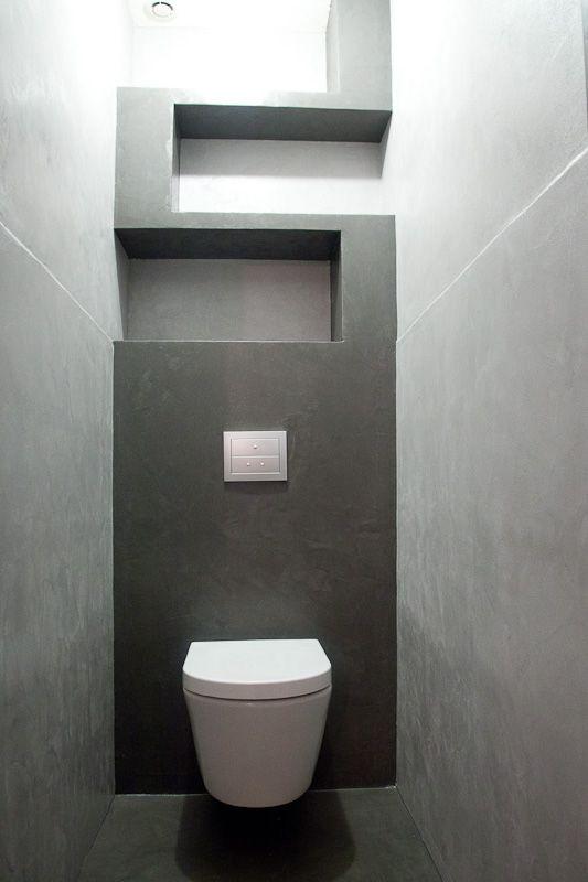Concrete WC // WC en béton ciré / AD ATELIER DESIGN