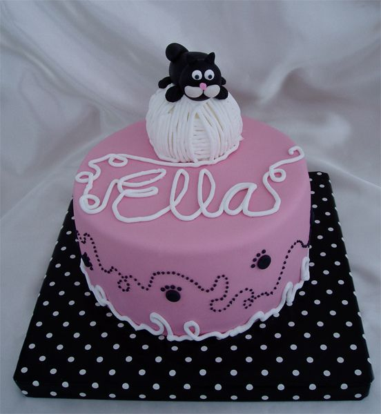 baby shower kitten cakes | This was one of two cat themed cakes for a baby shower. I got lots of ...