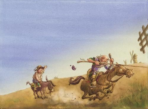 Tilting at windmills by Andycatbug - Use the 'Create Similar' button to commission an artist to create your own artwork.