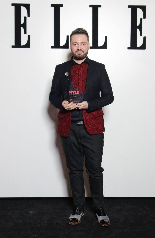 Alexandru Abagiu - nominalizat si castigator Elle Style Awards - Cel Mai Bun Make-up Artist