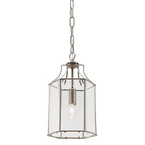 love this $147 Arcadia 1 light clear bevelled glass pendant