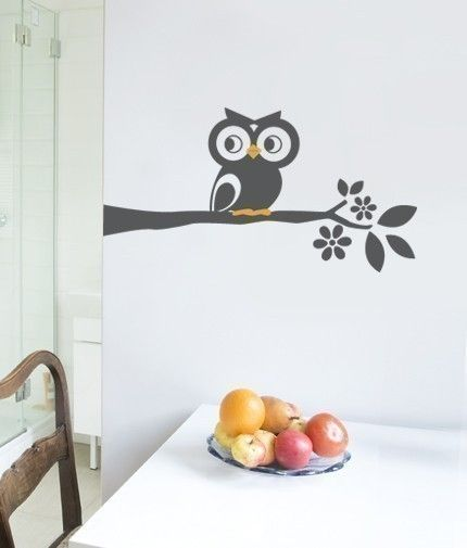 I love wall decals and I love owls, so I thought this owl wall decal was so cute!