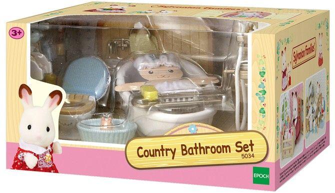 Sylvanian Families Country Bathroom Set Flubit In 2020 Country Bathroom Sylvanian Families Bathroom Sets