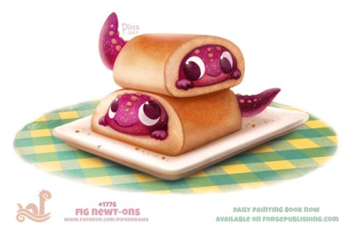 Daily Paint 1776# Fig Newt-ons  Daily Paintings Book now available: http://ForgePublishing.com/shop  For full res WIPs, art, videos and more: https://www.patreon.com/piperdraws  Twitter • Facebook • Instagram • DeviantART