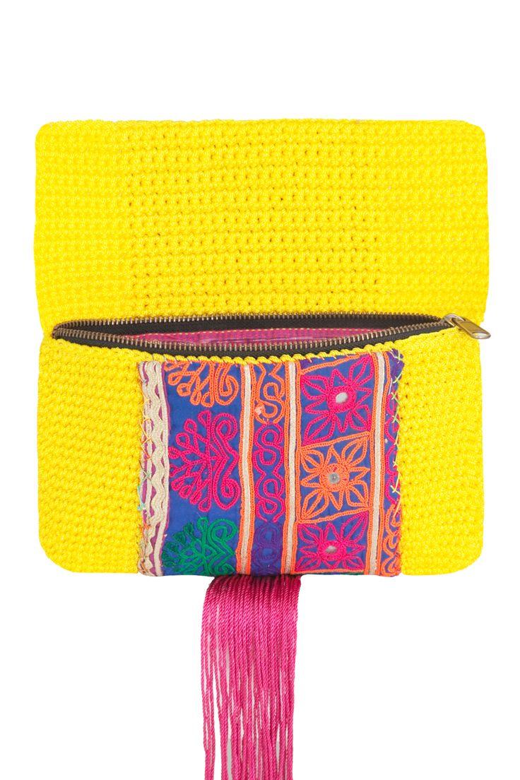 crochet clutch purse (inside)