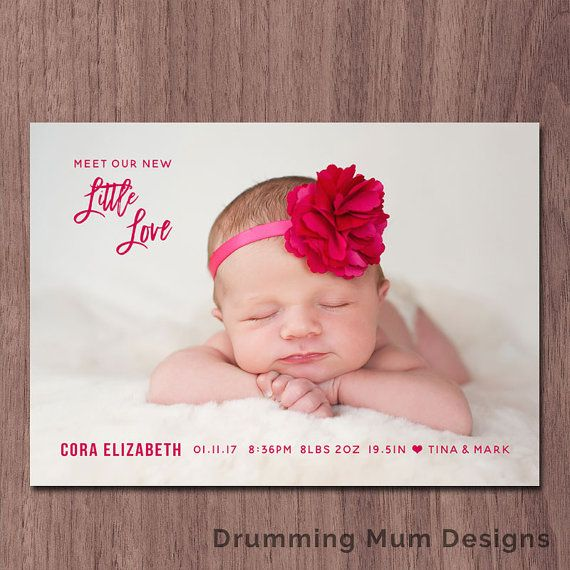 valentine birth announcement valentine u0026 39 s day birth announcement modern photo card baby boy girl