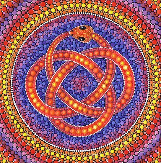 wagga snake mandala - photo#34