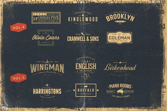 Vintage Bundle of Logos by Vintage Design Co.