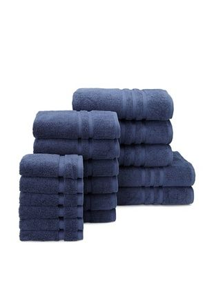 Chortex Irvington 17-Piece Towel Set, Navy